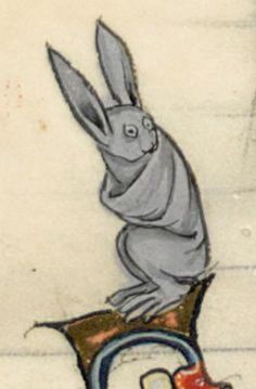 This bunny's expression is priceless @GallicaBnF, Français 95, 13th c.