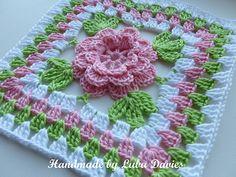 Ravelry: Flower in granny square pattern by Crochet- atelier
