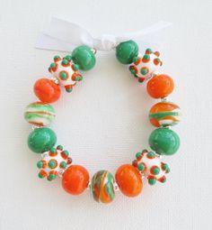 Miami Hurricanes Football Bracelet or University of Miami Bracelet-gift for a graducate