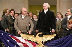 Still of David Morse as President Washington and Paul Giamatti as John Adams in John Adams (2008)