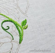 Secret Garden Embroidery Project: Small Leaves