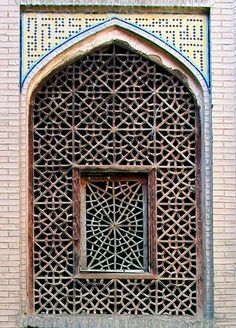netted window in Iranian architecture / Isfahan, Iran