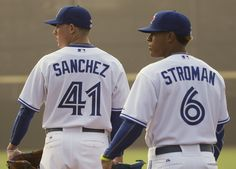 Aaron Sanchez will break camp in the Blue Jays rotation, while buddy Marcus Stroman suffered a season-ending knee injury in spring training. Blue Jay Way, Go Blue, Best Baseball Player, Baseball Gifts, Baseball Toronto, Marcus Stroman, No Crying In Baseball, Josh Donaldson, Toronto Star