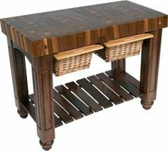 John Boos Le Rustica RNLR Wish List Pinterest Top Drawer - Boos gathering block ii 36x24 butcher block table 2 wicker basket