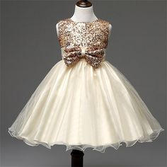 Toddler Kids Baby Girl Vest Sequins Tulle Dress Children Party Princess Dress Clothes Formal Events Ceremonies Dresses For Girls