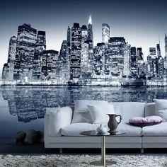 Fotomurales: Blue Manhattan