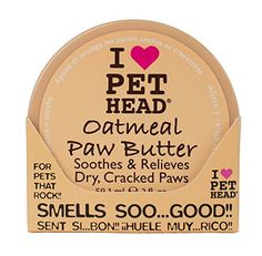 "Natural Oatmeal Paw Butter - soothes and relieves dry, cracked paws from hot or cold weather; it works on noses too! Simple and easy to use, just gently massage into your dogs paws before and after walks Combining shea butter, oatmeal, mango, vitamins E and F, jojoba, coconut oil, olive oil, and aloe vera to soothe and relieve dry, cracked paws <a class=""g1-link g1-link-more"" href=""https://www.dogly.co.uk/shop/dog-grooming/pet-head-oatmeal-..."