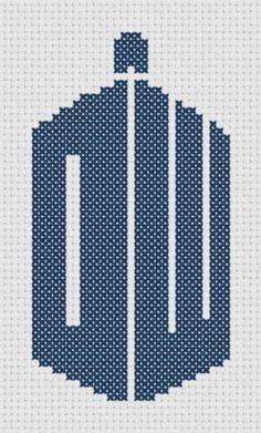 Doctor Who Logo Symbol Cross-Stitch