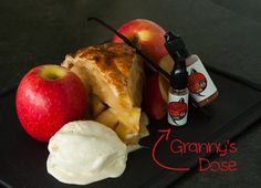 Le Granny's Dose est un liquide complexe et très gourmand rappelant la tarte Tatin de grand-maman ! A complex and gourmet e-liquid reminding grandma's apple pie memories !