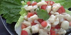 Bay Scallop Ceviche ~ may also be made with those sweet & tender Maine shrimp....Mmmmm....