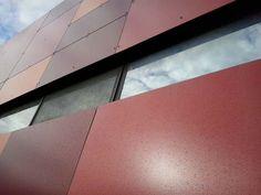 dettaglio rivestimento esterno, ristrutturazione Centro Commerciale Quinzio, Reggio Emilia