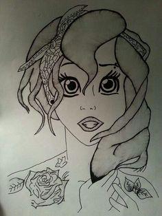 Ariel drawing by Morgan Varga