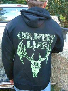 The green Bone Head Hoodie is now at www.countrylifeoutfitters.com FREE SHIPPING