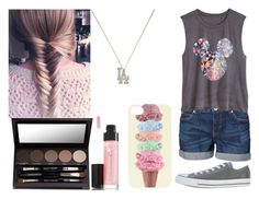 """""""Untitled #185"""" by little-squishy ❤ liked on Polyvore featuring Vero Moda, Converse, Laura Mercier, Berry and PacSun"""