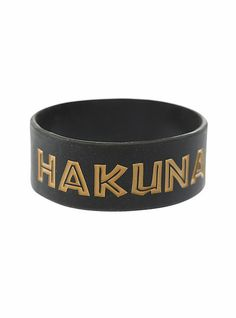 Disney The Lion King Hakuna Matata Rubber Bracelet | Hot Topic  I Need to have one of these!!!
