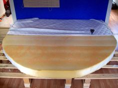 Foam mattress cut into circle bed! So awesome!
