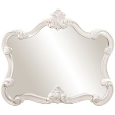 Howard Elliott Veruca White Mirror 56032 (1,240 CNY) ❤ liked on Polyvore featuring home, home decor, mirrors, decor, frames, white, howard elliott mirror, howard elliott, white home decor and white mirror