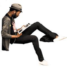 hipster sentado negro People Cutout, Cut Out People, Real People, Persona Vector, Street Casual Men, Render People, People Png, Photoshop Rendering, Digital Texture