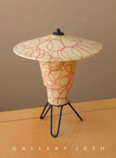 I think I love this: MID CENTURY MODERN ATOMIC REFLECTOR LAMP! Lightolier Fiberglass Eames Vtg 1950's