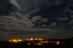 A neighborhood under nightsky  in Alto Paraíso de Goiás - Brazil