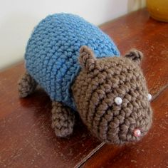Poetry in Yarn--Lindsey Stephens--Chervil Hamster - Crocheted