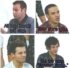 """but we sang 'forever young' "" hahahaha lou's face haha"