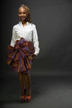 The K U F U N G A Skirt Made from African Dutch by LiLiCreations ~African fashion, Ankara, kitenge, African women dresses, African prints, Braids, Nigerian wedding, Ghanaian fashion, African wedding ~DKK