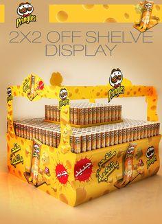 Pringles Displays on Behance Pallet Display, Pos Display, Display Design, Booth Design, Display Shelves, Store Design, Stall Decorations, Cardboard Display, Creative Advertising