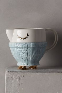 Cozy Carolers Sugar & Creamer - anthropologie.com - it has little feet! omg
