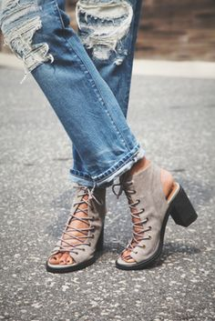 Jeffrey Campbell + Free People Minimal Lace Up Heels on ShopStyle!