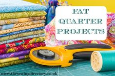 Fat quarter sewing projects - put your fat quarters to great use with this…