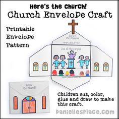 Here's the Church Bible Craft for Children from www.daniellesplace.com                                                                                                                                                                                 More