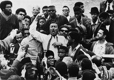 "Adam Clayton Powell in Watts, 1968 16''x20'' fiber print, edition of 1 ""Harlem Congressman Adam Clayton Powell addresses a crowd in the Watts section of Los Angeles, January 10, 1968."""