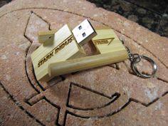 Personalized Bamboo USB Flash Drive ; Custom Engraved USB Jump Drive