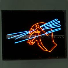 "neon sign-Hand with Chopsticks -animated 48"" x 35"""