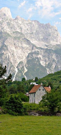 Farmhouse & the Accursed Mountains, Thethi Village, Albania