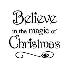 Believe in the Magic of Christmas 12x12 vinyl wall art decals sayings... ($4.99) ❤ liked on Polyvore