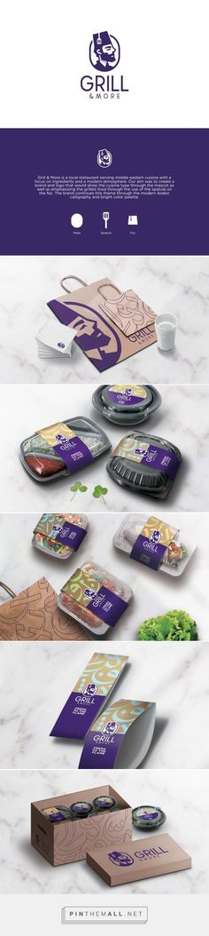 Branding,calligraphy, packaging for Grill & More on Behance by Studio AIO…
