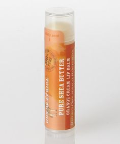 Look at this #zulilyfind! Orange Cream Shea Lip Balm - Set of Six by Out of Africa #zulilyfinds