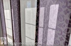 Detalle de tejido estampado en Panel Japonés Home Decor, Blinds, Tejido, Decoration Home, Room Decor, Home Interior Design, Home Decoration, Interior Design