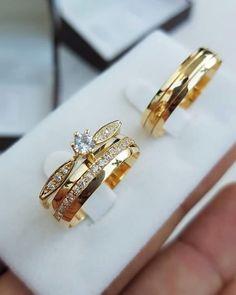 Hand Jewelry, Cute Jewelry, Bridal Jewelry, Types Of Wedding Rings, Classic Wedding Rings, Engagement Rings Couple, Couple Rings, Couple Ring Design, Ethiopian Jewelry