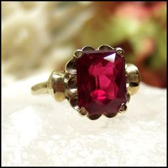 Antique Burmese Ruby ring - this is probably a very expensive ring - but it is gorgeous!