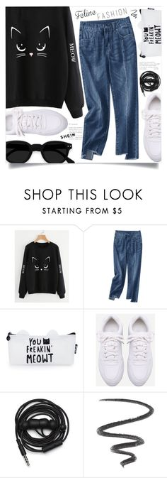 """""""The Cat's Meow: Feline Fashion"""" by meyli-meyli ❤ liked on Polyvore featuring Urbanears, L'Oréal Paris and felinefashion"""