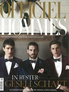 Tony, Lucas & Martin for L'Officiel Hommes Germany Photos by Tomo Brejc