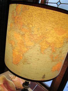 Map lamp shade - love!