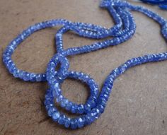 4x6mm Bleu Aquamarine Faceted Rondelle Pierres Précieuses Perles Collier Fermoir Argent AAA