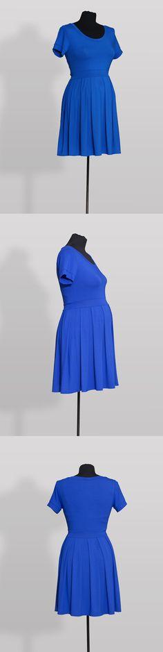 Příjemně chladivé šaty z pružné viskózy vhodné do kanceláře i do společnosti Zvýšený pas a skládaná sukně zajišťují dostatek prostoru pro rostoucí bříško Vyrobeno v ČR z látek certifikovaných pro děti do 3 let
