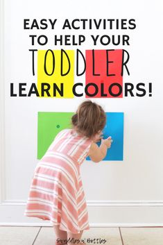 Fun Activities to Help Your Toddler Learn Colors! - Little Learning Club Color Activities For Toddlers, Activities For One Year Olds, Colors For Toddlers, Toddler Learning Activities, Infant Activities, Educational Activities, Baby Learning, Learning Games, Kid Activites