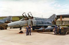 HAF F-4E RNAS YEOVILTON, 1994. Hellenic Air Force, F4 Phantom, Army & Navy, Jet Plane, Military Aircraft, Armed Forces, Airplane, Cool Cars, Fighter Jets