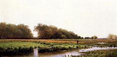 Alfred Thompson Bricher - Hunter in the Meadows of Old Newburyport Massachusetts
